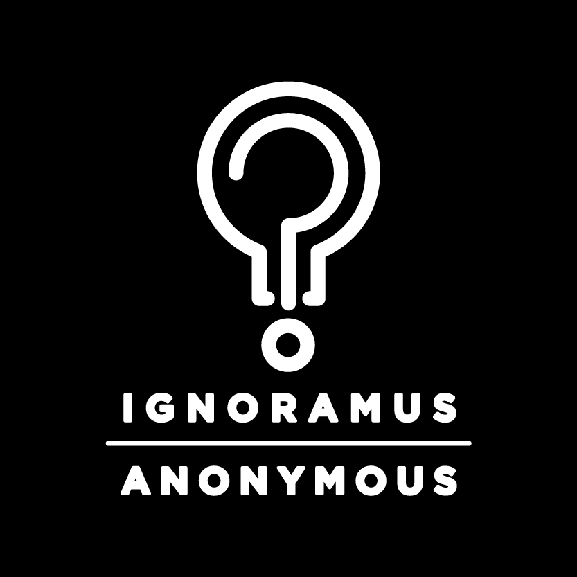 Logo for Ignoramus Anonymous (2013-2014), by Malcolm Whittaker.